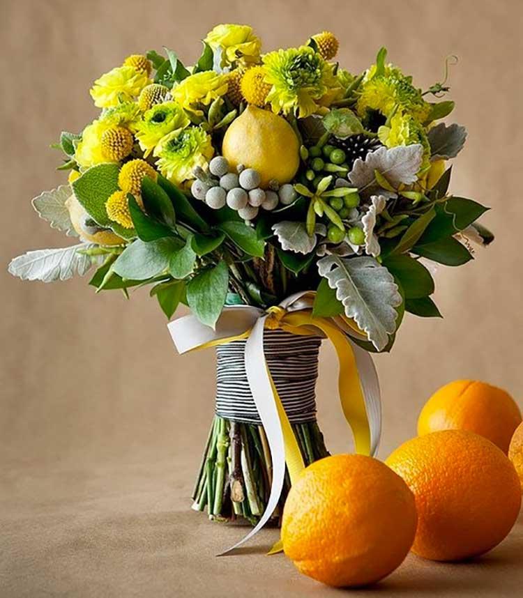 bouquet-evenementiel-citron-fleurs-jaunes