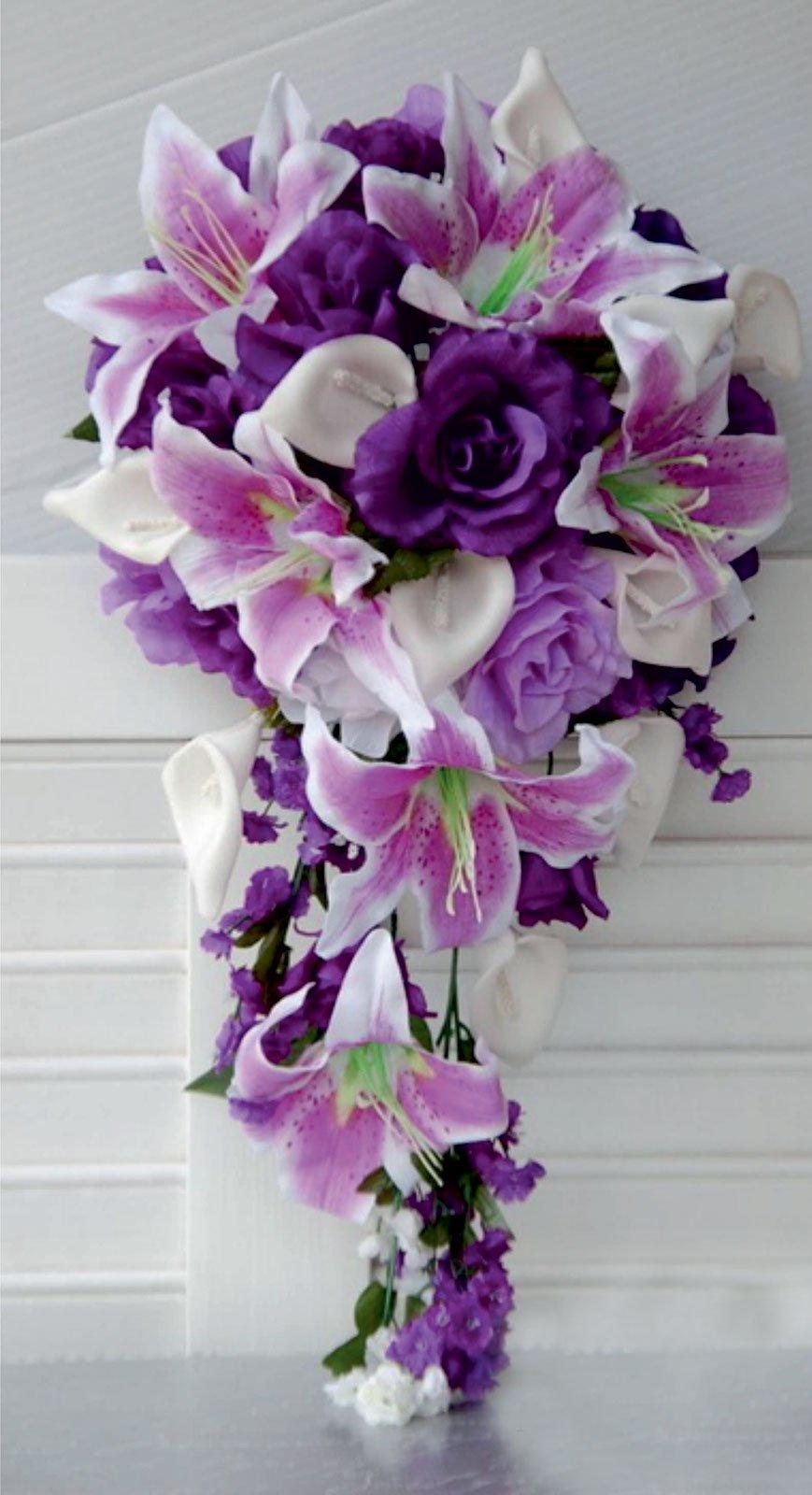 Bouquet de mariage violet