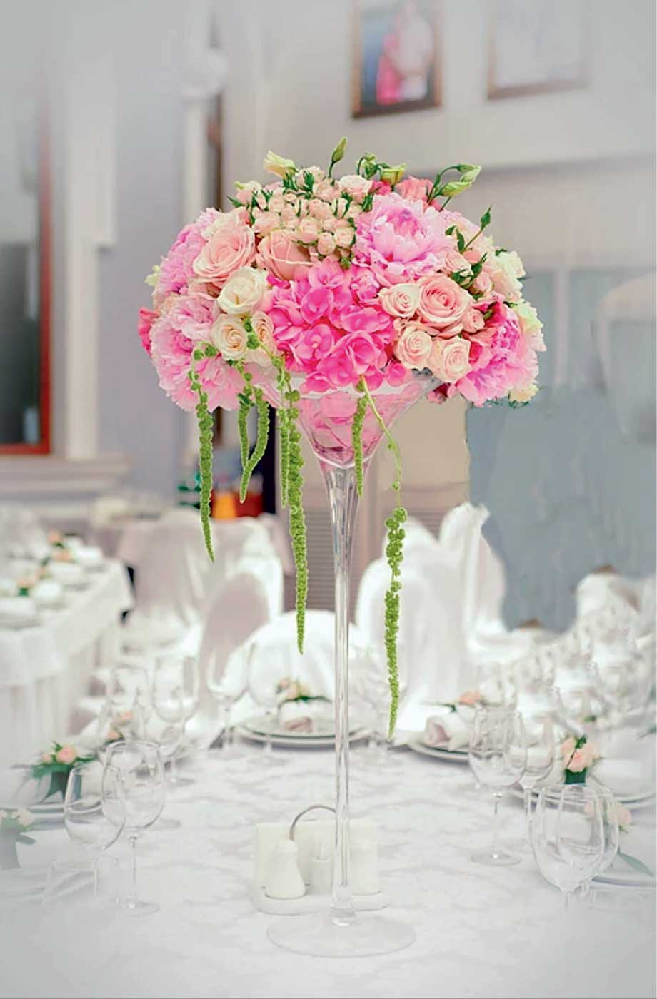 bouquet-rose-blanc-table-mariage