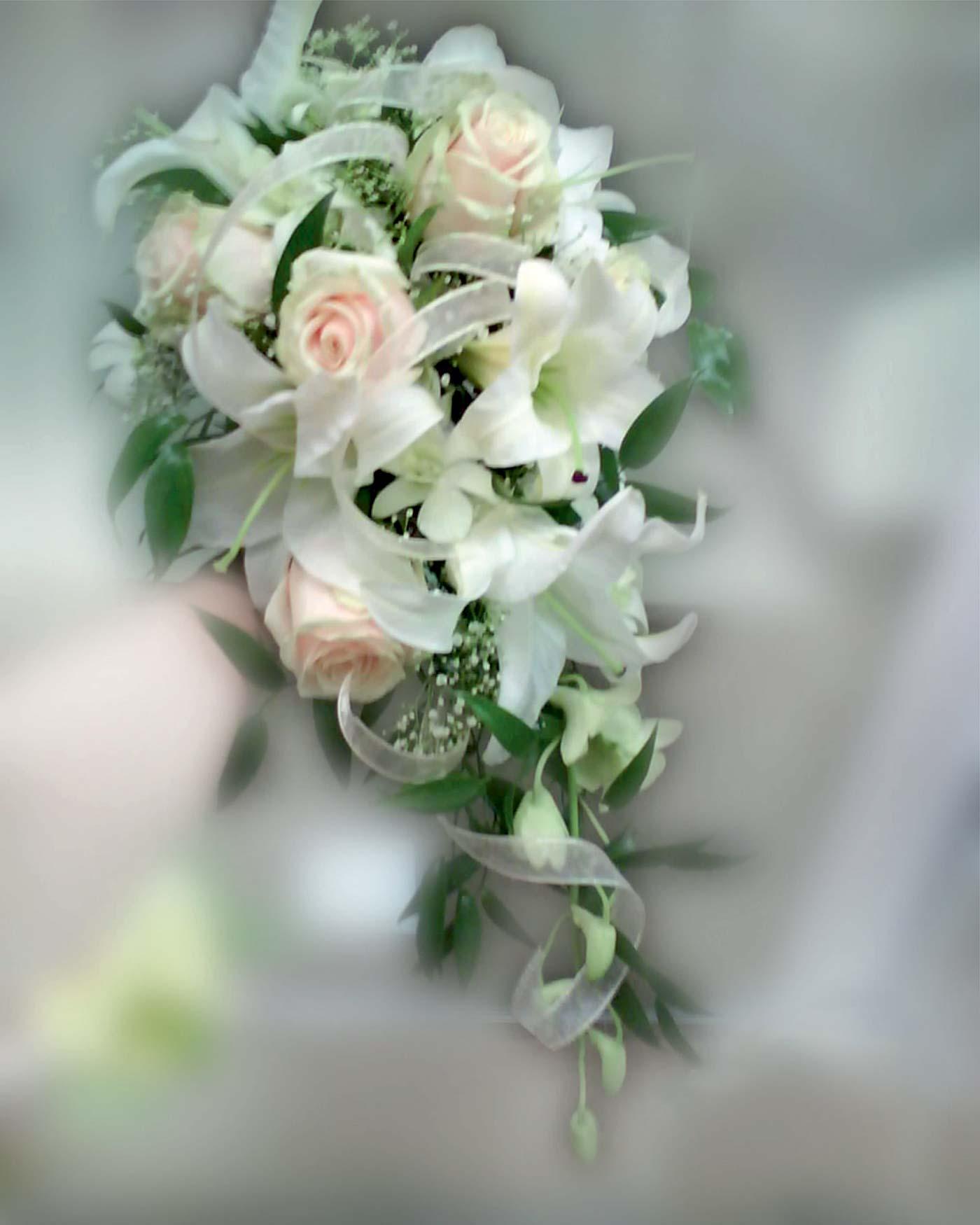 bouquet de mariage vert et blanc
