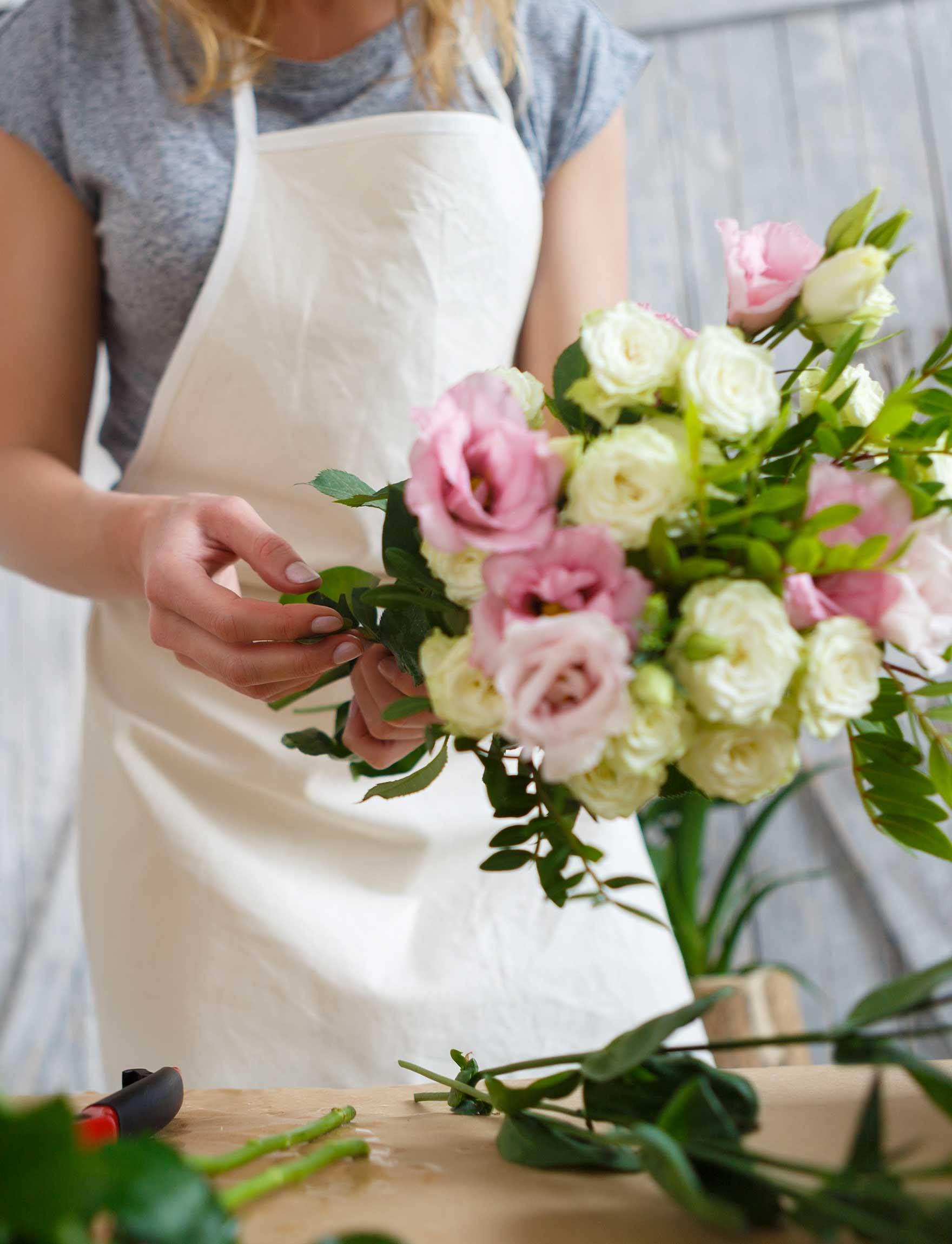 Composition d'un bouquet de fleur
