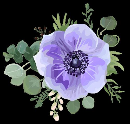 fleurs-illustration-bleues