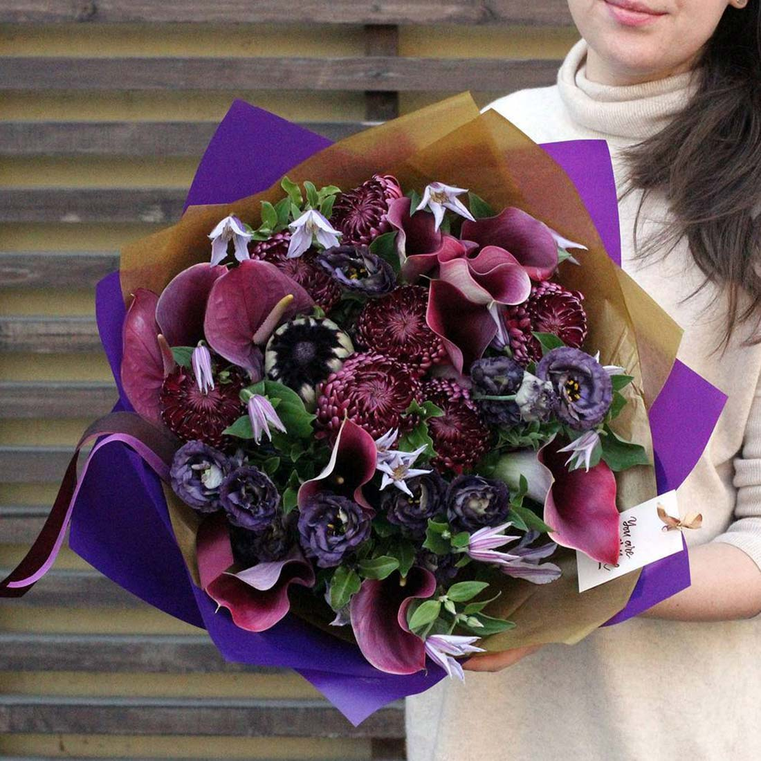 Bouquet fleurs sophistiqué